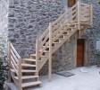 escalier extérieur mélèze