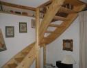 escalier sapin 1 quart tournant
